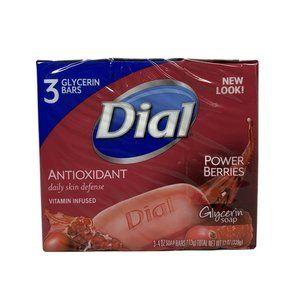 Dial Antioxidant Power Berries Glycerin 3 Pack Bar